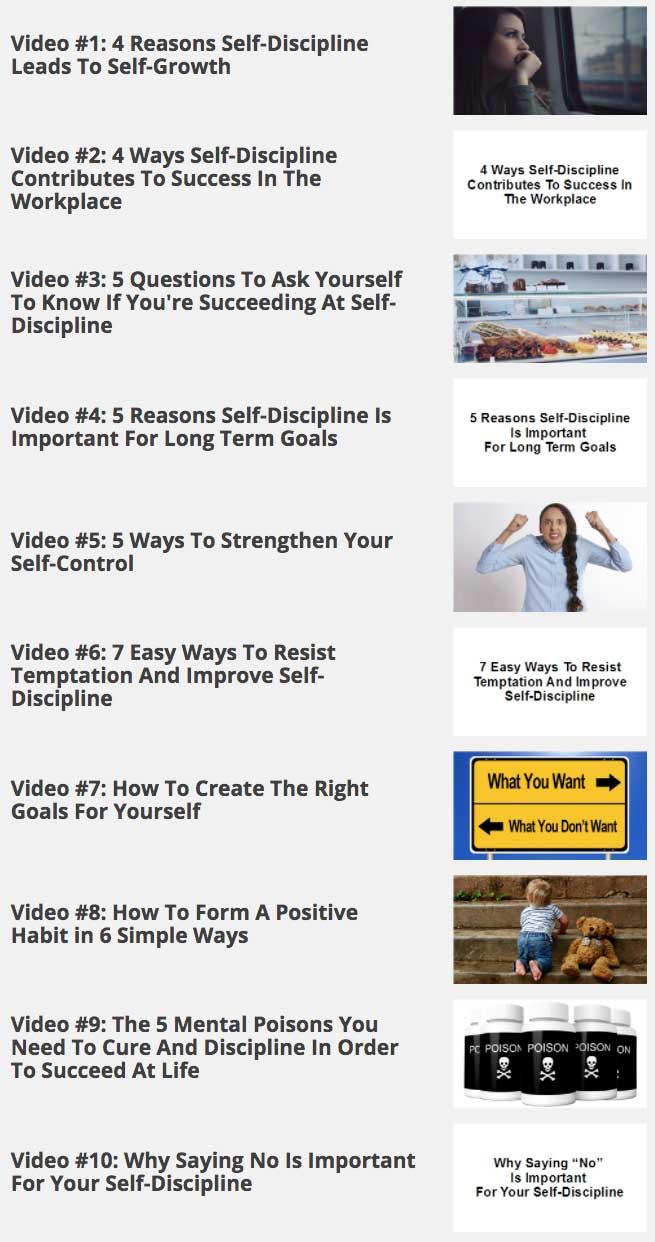Self-Discipline-Mastery Videos